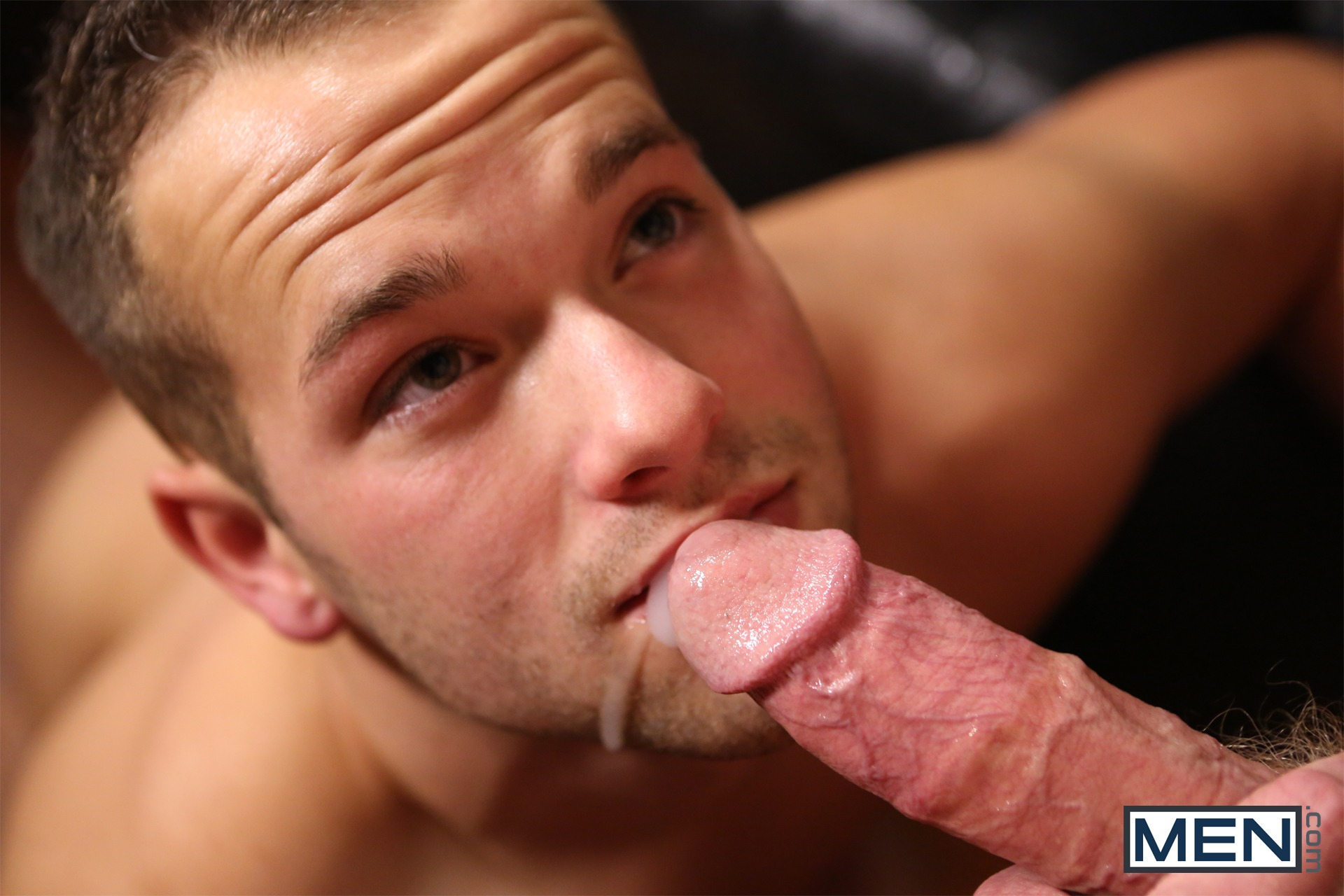 Eating cum from pulsing cock gay damien 9